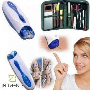 Эпилятор My-Twizze (Wizzit) х50 женский хороший для лица - электробритва для депиляции и бровей в домашних условиях – Лучший триммер для удаления волос с тела в зоне бикини на лице, Сине-белый