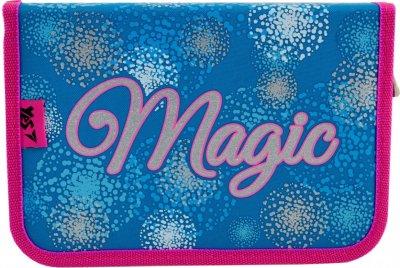 Пенал Yes Magic твердый одинарный с клапаном 1 отделение Розовый с голубым (532152)
