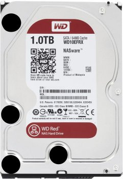 Накопичувач HDD SATA 1.0 TB WD Red 5400rpm 64MB (WD10EFRX)