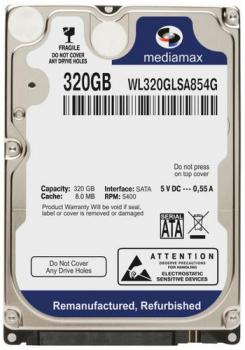 "Жорсткий диск Mediamax 320ГБ 5400об/м 8МБ 2.5"" SATA III (WL320GLSA854G)"