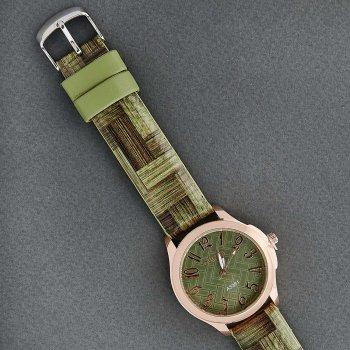 Классические Женские Часы Qulijia OL2-23 c зеленым ремешком