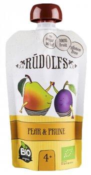 Упаковка фруктового органічного пюре Rudolfs Смузі груша-чорнослив 110 г х 6 шт. (14751017940911)