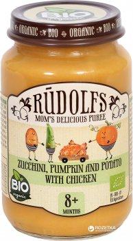 Упаковка овоче-м'ясного пюре Rudolfs Овочі з куркою з 8 місяців 190 г х 6 шт. (14751017940546)