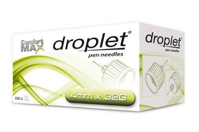 Иглы инсулиновые Droplet HTL Strefa Дроплет для шприц ручек 4 мм (32G x 0,23 мм)