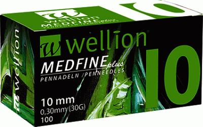Иглы для инсулиновых шприц-ручек Wellion Medfine Plus 10 мм (29G x 0,33 мм)