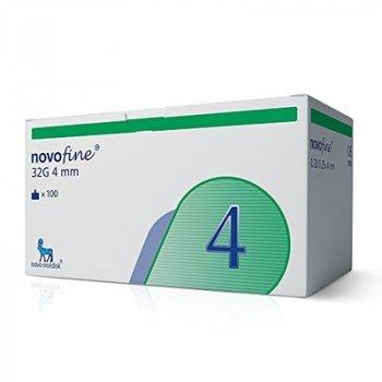 Иглы инсулиновые для шприц ручек Novofine Novo Nordisk Новофайн 4 мм 32G