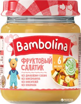 Упаковка пюре Bambolina Фруктовий салат 100 г х 12 шт. (4813163001854)