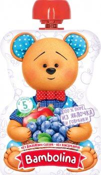 Упаковка фруктового пюре Bambolina Яблуко-лохина з 5 місяців 90 г х 12 шт. (4813538007214)