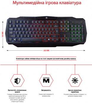 Ігровий комплект клавіатура + миша Piko GX50 Black USB