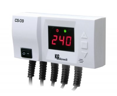 Автоматика для насоса солнечного коллектора и циркуляционного насоса KG Elektronik CS-09
