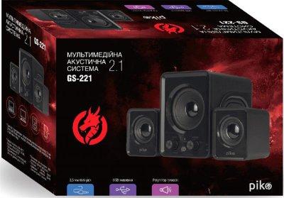 Комп'ютерна акустична система 2.1 Piko GS-221 Black