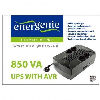 Пристрій безперебійного живлення EnerGenie EG-UPS-002 850VA, (EG-UPS-002)