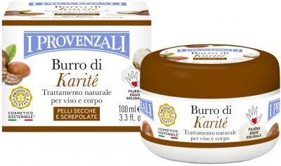 Засіб I Provenzali Karité пом'якшувальний і регенерувальний для сухої та потрісканої шкіри обличчя і тіла з олією карите 100 мл (8025796001316)