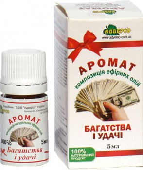Аромокомпозиція ефірних олій Адверсо Аромат багатства й удачі 5 мл (4820104012985)