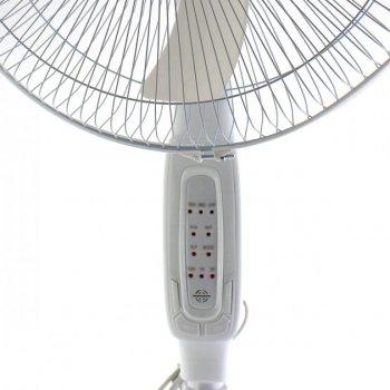 Вентилятор підлоговий з пультом ДУ Domotec МЅ-1621 40 Вт, 3 режими 5 лопатей Білий