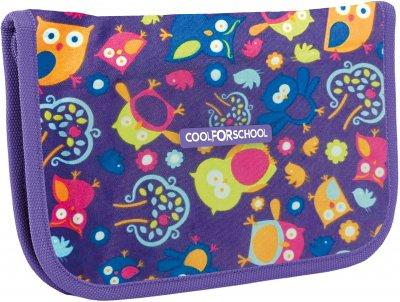 Пенал Cool For School Owl 1 відділення 2 закоти Синій (CF86609)