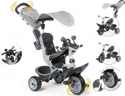 Детский металлический велосипед Smoby Toys Комфорт с козырьком и багажником (3032167412027)