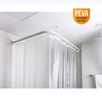 Штора для ванної кімнати PEVA, Кришталева (180х180), матеріал PEVA