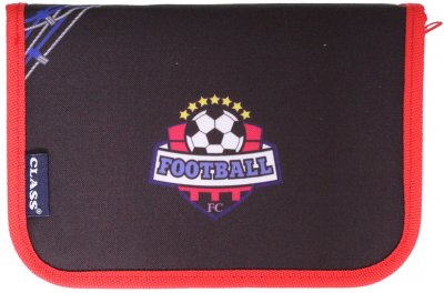 Пенал Class Football 1 отделение 1 отворот с наполнением (99311/8591662993110)