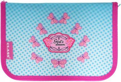 Пенал Class Girl's Dreams 1 отделение 1 отворот с наполнением (99300/8591662093001)