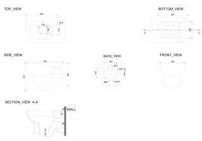 Унітаз підвісний DEVIT Comfort із сидінням Soft Close дюропласт 3120123