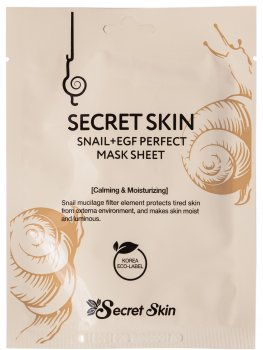 Маска для лица с муцином улитки Secret Skin Snail+EGF Perfect Mask Sheet 20 г (8809534251474)