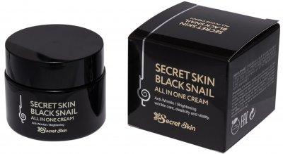 Крем для лица с муцином черной улитки Secret Skin Black Snail All In One Cream 50 г (8809540516093)