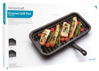 Сковорода гриль KitchenCraft 40х23 см (157065)
