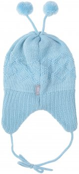 Демисезонная шапка с завязками Lenne Balin 19370/400 42 см Голубая (4741578361488)