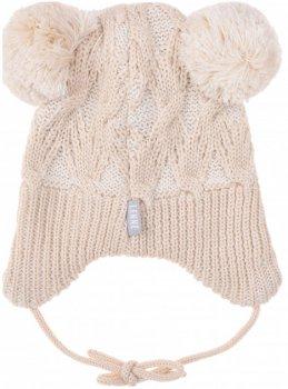 Зимняя шапка с завязками Lenne Jena 19374/505 50 см Бежевая (4741578362478)