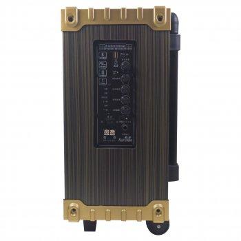 Активна акустична система LAV Q-801 Потужність 150 Вт Bluetooth Радіо мікрофон і пульт ДУ в комплекті переносна з висувною ручкою