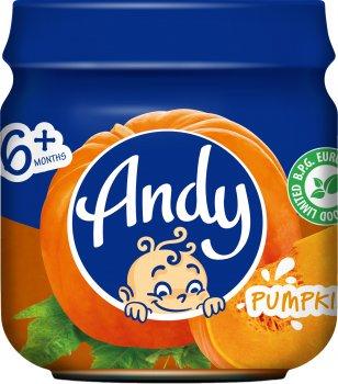 Упаковка дитячого пюре Andy Гарбуз 80 г х 12 шт. (4813163003490)