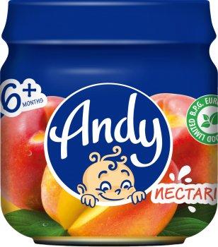 Упаковка дитячого пюре Andy Персик нектарин 80 г х 12 шт. (4813163003414)
