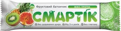 Упаковка фруктовых батончиков Смартік Микс-Тропик 30 г х 12 шт (4820113925825)