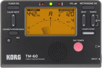 Тюнер-метроном Korg TM-60-BK (226442)