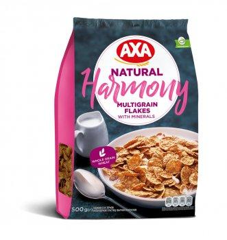 Упаковка мультизерновых хлопьев АХА Гармония натуральные 500 г х 6 шт (4820008125231)
