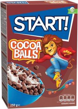 Упаковка сухого завтрака Start шарики с какао 250 г х 12 шт (4820008125514)