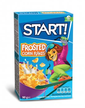 Упаковка кукурузных хлопьев Start глазированные 90 г х 24 шт (4820008123831)