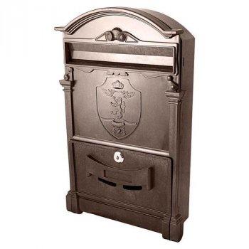 Почтовый ящик Vita герб льва (коричневый) (PO-0017)