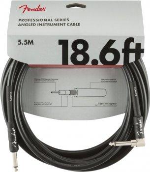 Інструментальний кабель Fender Cable Professional Series 18.6 ft 5.5 м Angled Black (228434)