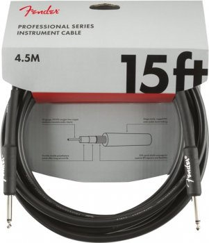 Інструментальний кабель Fender Cable Professional Series 15 ft 4.5 м Black (228446)