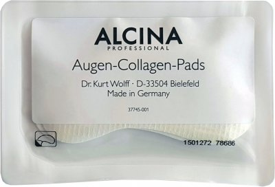 Маска-патч Alcina Collagen Eye Pads для контуру очей і губ колагенова, ліфтингова 10x2 шт. (34674)