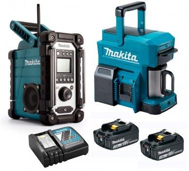 Акумуляторний радіоприймач Makita DMR107 + кавоварка DCM501