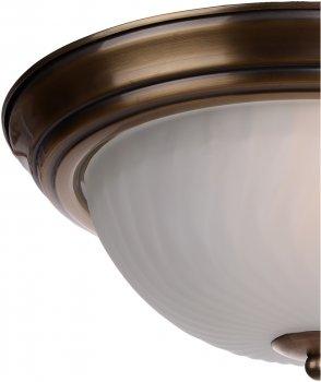 Світильник настінно-стельовий Brille BR-02 250/2 AB (177657)