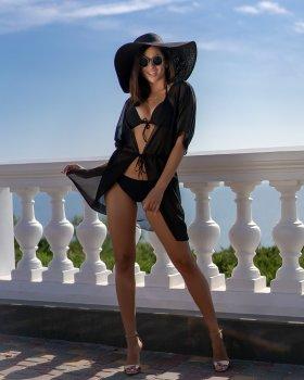 """Пляжна туніка Fashion Girl """"Морський бриз"""" чорна"""