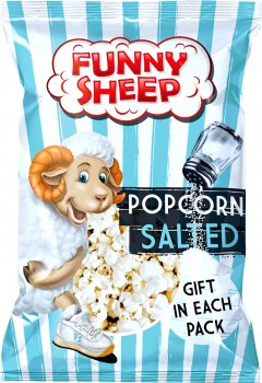 Упаковка попкорну Funny Sheep солоного 90 г х 5 шт. (44820196720049)