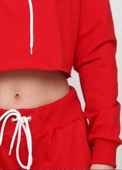 Костюм Solo спортивный топ с капюшоном плюс брюки Красный
