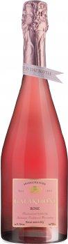 Вино игристое GALAKTIONI Резерв розовое полусухое 0.75 л 11-12% (4860013080828)