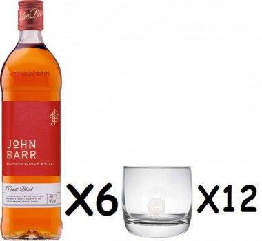 Виски John Barr 0.7 л 40% х 6 бут + 12 бокалов (5013967000209)