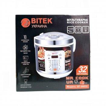 Мультиварка пароварка йогуртниця BITEK 6 літрів медленноварка 1500 Вт краща домашня потужна помічниця на кухні BT00032W